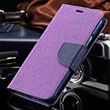 Annant Entp.™ Stylish Mercury Fancy Diary Wallet with Magnetic Lock & Card Slots Flip Case Cover for Oppo A57 - (Purple)
