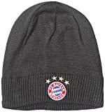 adidas Herren FC Bayern Beanie Mütze, Dark Heather/Solid Grey/Solar Red, OSFM