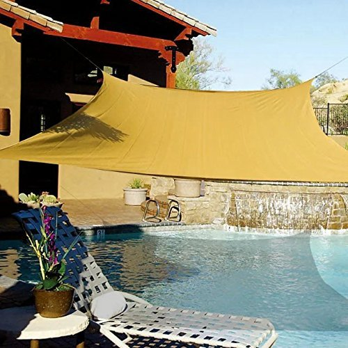 E. Teilen Sonne Segel UV Top Outdoor Überdachung Terrasse Rasen quadratisch Desert Sand