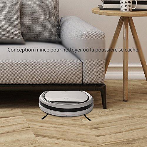 ILIFE V3s Pro Aspirateur Robot,Nettoyage Automatique la télécommande, ramasse Les Poils d'Animaux