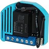 Qubino ZMNHAD1 Flush 1 Schalter Relais Unterputz-Mikromodul EU Z-Wave Plus Schwarz/Blau