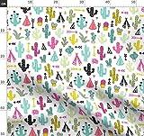 Kaktus, Garten, Sommer, Tipi, Pfeil, Bunt, Geometrisch,