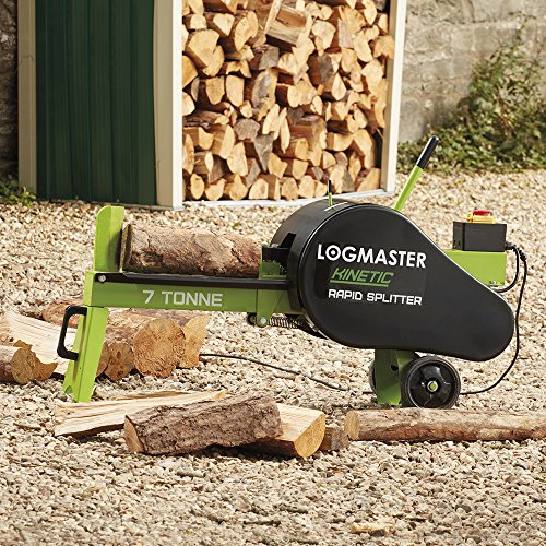 Logmaster Electric 7 Ton Log Splitter Split Timber Wood In Seconds, 5 X Times Faster Than Hydraulic Log Splitters by