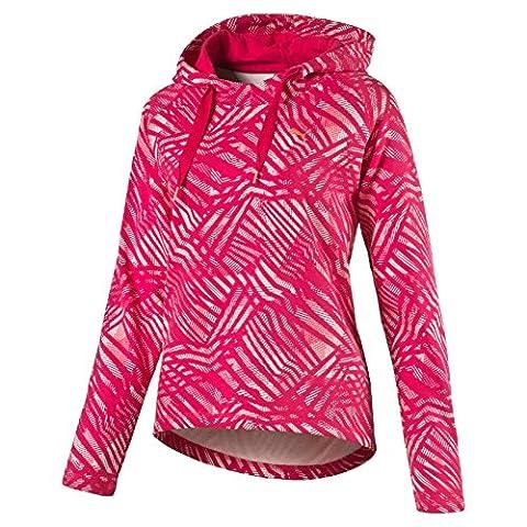 Puma Fun AopW Hooded Sweatshirt, Rose Red/Aop, women's, Fun AopW, Fucsia/Bianco, Medium
