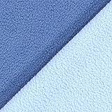 Fabulous Fabrics Fleece Doubleface - Jeansblau/blau -