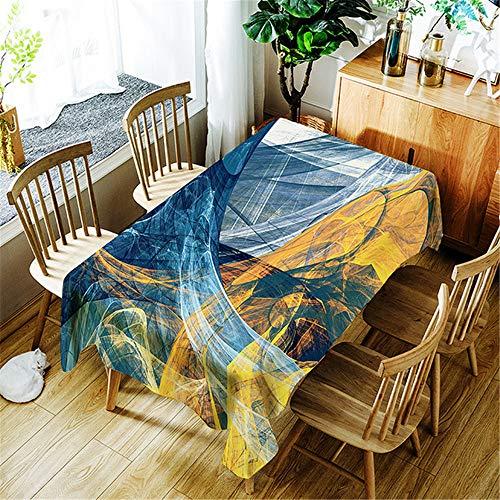 SONGHJ Polyester Tischdecke wasserdicht rechteckige Baumwolle Tischdecke Esstisch Abdeckung Home Halloween Dekoration A 150x300cm -