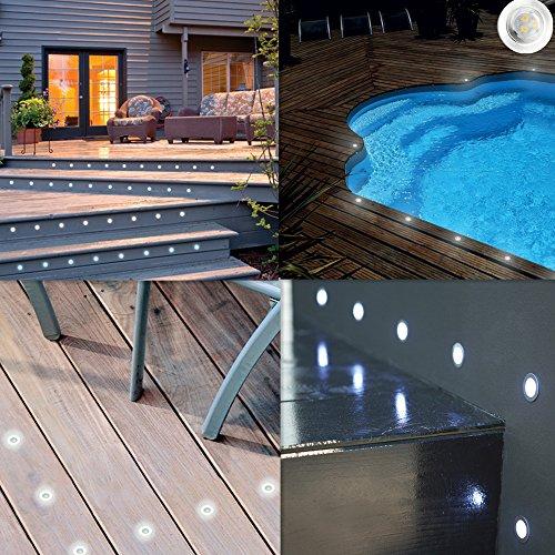 12x spots led encastrable ext rieur ip67 acier inoxydable - Strisce led per bordo piscina ...
