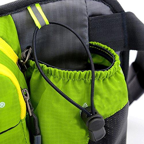 Outdoor marsupio, marsupio Sunhiker sport resistente all' acqua con bottiglia di acqua. Cintura da corsa borsa marsupio per escursionismo ciclismo campeggio arrampicata viaggio., Pink Green