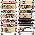 FunTomia® Longboard Skateboard Drop Through Cruiser Komplettboard mit Mach1® ABEC-11 High Speed Kugellager T-Tool