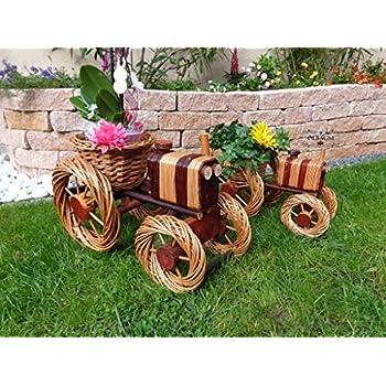 bagger traktor aus korbgeflecht 80cm rattan. Black Bedroom Furniture Sets. Home Design Ideas