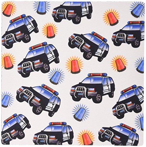 0,3x 0,6cm Maus Pad Bild von Polizei Autos mit Rot N blau blinkende Lichter in Wiederholen Muster (MP 180358_ 1) ()