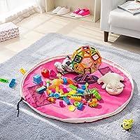 Preisvergleich für EZcomfy groß tragbar Kids Baby Infant Kinder Play Matte Toys Storage Bag Spielzeug Organizer–150cm (152,4cm) Rose