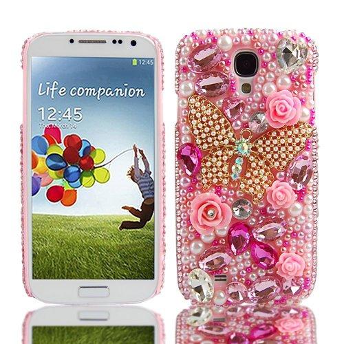 EVTECH (TM) I9500 LTE i9505 IV Etui de protection Coque de protection couverture 3D Luxe samsung galaxy Samsung Galaxy S4 Coque paillettes strass paillettes strass Housse Case S4 S4 Sams