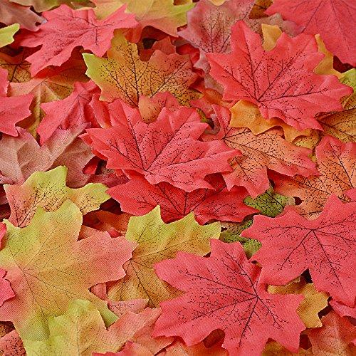300 Stück Herbstlaub Ahornblätter Herbstblätter aus Stoff Herbstdekoration als Deko für die Wohnung, Unterlage für Pflanzen, Türdeko