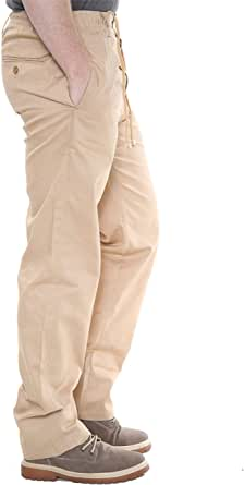 FROOTY Mens Plain Elasticated Waist Straight Leg Rugby Trouser Smart Cargo Combat Pant