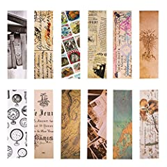 Idea Regalo - Segnalibri stile vintage per donna uomo, 30 pezzi (collezione retrò)