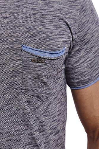 CRSM by Carisma Carisma Herren T-Shirt Designer Mode Men's Wear Stylisches Sommer T-Shirt Meliertes Design verschiedenes Styles und Farben T-4384 Navy