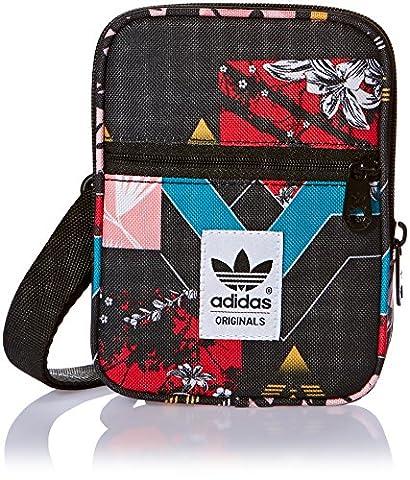 adidas Uni Festival Soccer Schultertasche, Multicolor/Black, 13 x 17 x