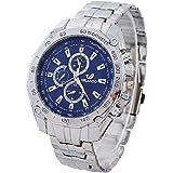 Men Stainless Steel band Sport Business Quartz Watch Wristwatches