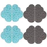 Esponja Limpieza Cocina, Yuccer Esponja Scrubber para la Cocina Reutilizable Esponja Antibacterial (Azul + Gris, Paquete de 8)
