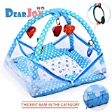 #5: DearJoy Baby Kick and Play Gym with Mosquito Net and Baby Bedding Set (Blue Bunny Print)