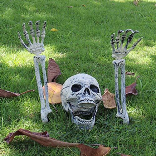 Skelett Für Halloween - EqWong Halloween Dekoration,3 Stück Realistische Skelett
