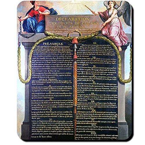 Erklärung der Menschen und Bürgerrechte Déclaration des Droits Mausepad #16179