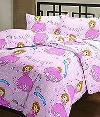 SVT Sophia cartoon print single bed reversible Ac Blanket/Dohar for kids