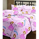 Svt Sophia Cartoon Print Single Bed Reversible Ac Blanket/Dohar For Kids