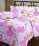 Monil cartoon print single bed reversibl...