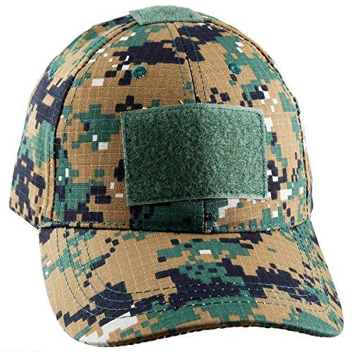moonsix Tactical Kappen für Herren, Military Style Camouflage Operator Hüte Jagd Army Mütze Baseball Cap, Green Digital Camo Bdu Cargo Acu Digital Camo