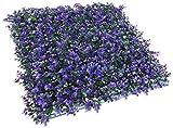 SONNENSCHIRME Depot Künstlicher Lavendel Zaun Sichtschutz Evergreen Heckenschere Platten Fake Pflanze Wand 50,8x 50,8cm Zoll (15Stück)