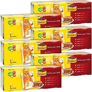 Friskies Chat Repas pour chat adulte Viande & Légumes en terrine 4 x 400 g - Lot de 6 (24 sachets fraîcheurs)