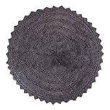 DII OCEANIQUE Maschinenwaschbar, 100% gewebte Baumwolle rund Bad Teppich Weich und Saugfähig, nahe Vanity, Badewanne oder Dusche, 71,1cm Dia, Mauve, grau, Rund