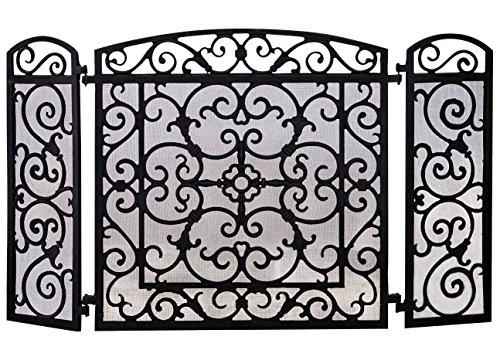 Parascintille per caminetto decoro stile antico ferro nero 11kg