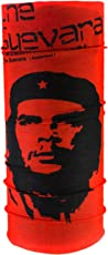 Autofy CheGuevara Lycra Unisex Headwrap for Bikes (Red and Black, Free Size)