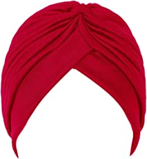CASTO Traditional Indian Sardar Sikh Punjabi Pagdi Dastaar Turban (Red)