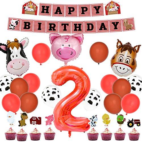 Kit fiesta cumpleaños animales granja - Decoraciones