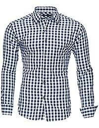"Kayhan Hombre Camisa Slim Fit Modello ""Doppelfarbig"""
