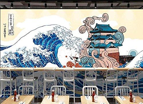 Aolomp Wallpaper japanische Wallpaper Wallpaper restaurant Japanische hd Hand bemalt die Wellen auf einem großen Wandgemälde wall Hotel wallpaper