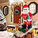 CCLIFE Led Weihnachtsmann Beleuchtet Aufblasbar outdoor Außenbereich Weihnachtsbeleuchtung weihnachtsdeko Weihnachtsfigur Wasserdicht