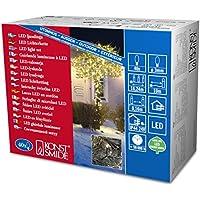 Konstsmide 3610-110 Micro LED Lichterkette / für Außen (IP44) /  24V Außentrafo / 40 warm weiße Dioden / schwarzes Kabel