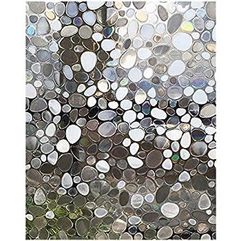 SODIAL Film Verre 3D Solaire electrostatique Anti Chaleur /& Film UV Fenetre Occultant Film Statique Opaque Verre Stickers Verre Salle De Bains Chambre Cuisine 45 x 200 cm 2#