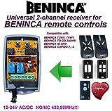 Beninca compatible receptor. 2-canales 433,92Mhz universal de radio módulo para BENINCA T2WV, T4WV, TO.GO 2(4)WV, IO.2WV, CUPIDO 2, CUPIDO 4 transmiso