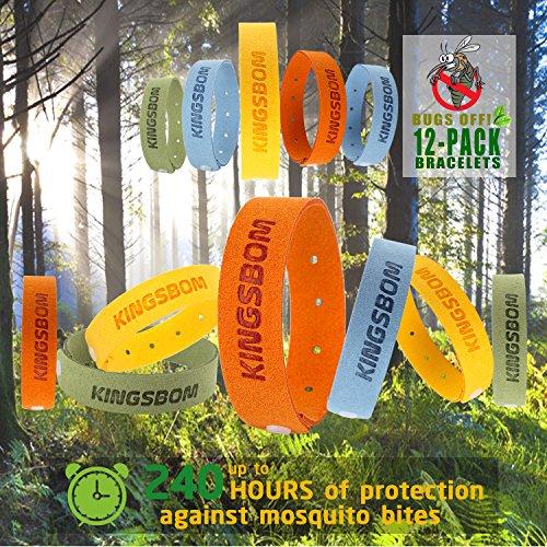 Moskito Repellent Armbänder, 100% natürlichen pflanzlichen Öl-Moskito-Armbänder, ungiftig Reise Insektenschutzmittel, weiches Material für Kinder und Erwachsene, hält Insekten und Bugs Away (12st).