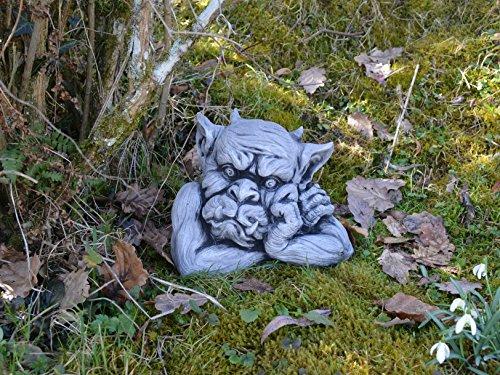 Massive Steinfigur Gargoyle Büste III Torwächter Gartendeko aus Steinguss frostfest
