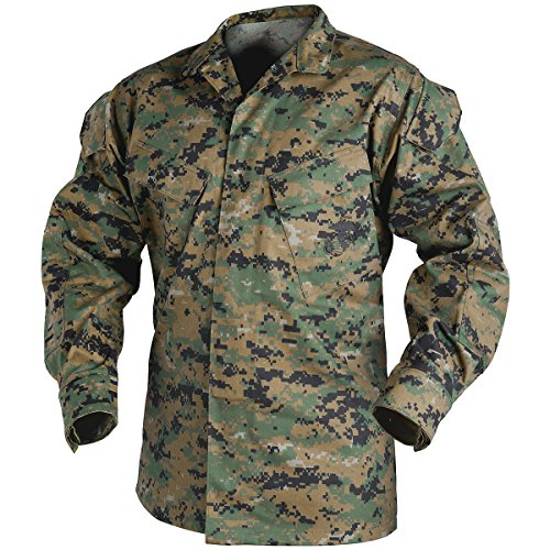 Helikon USMC Hemd Polycotton Twill Digital Woodland Größe M - Mandarin Shirt Jacke