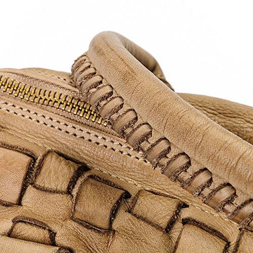 Ira del Valle, Borsa Donna, In Vera Pelle, Vintage, Borsa tracolla donna, Modello San Francisco Bag, Made In Italy Cammello
