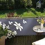 Videx Balkonbespannung Blüten, anthrazit, 90 x 300cm