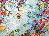 Floral Barock Stretch Jacquard Kleid Stoff